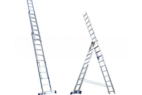 Лестница-стремянка трех секционная АЛЮМЕТ 6315 3х15