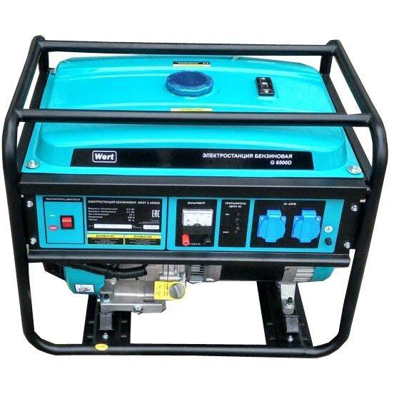 Генератор бензиновый WERT Wert G 6500D 5,5 кВт