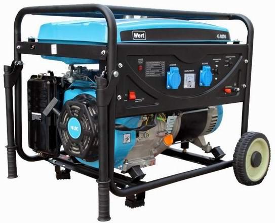 Генератор бензиновый WERT G 6500C 5,5 кВт