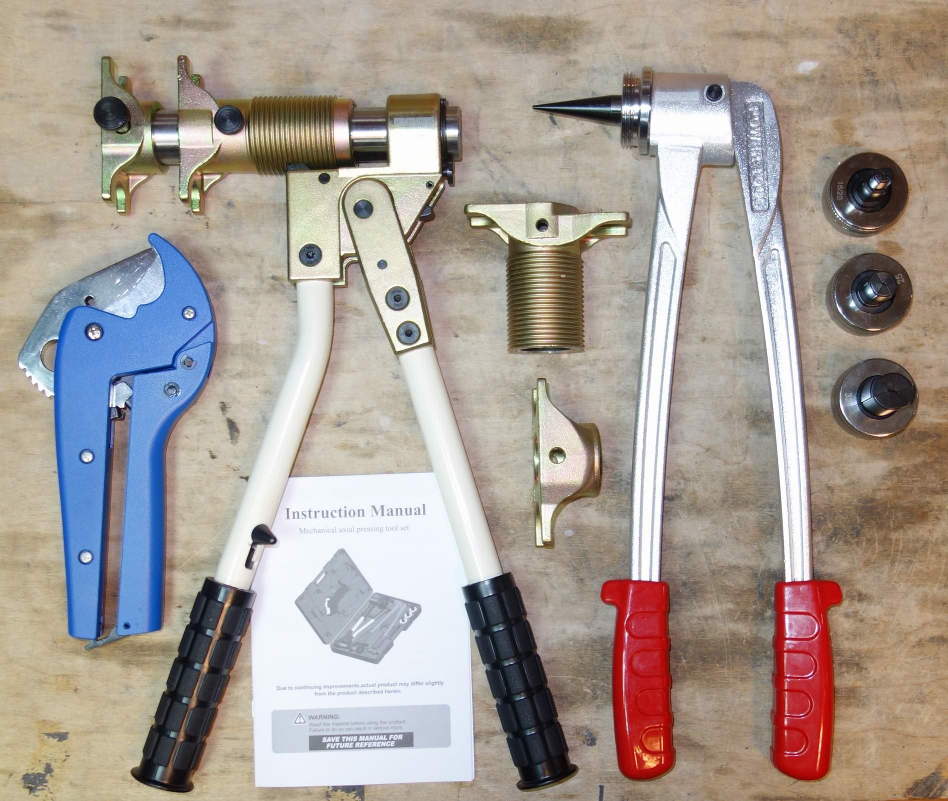 Ручной набор PEXBOX для монтажа PEX трубы REHAU 16мм-32мм