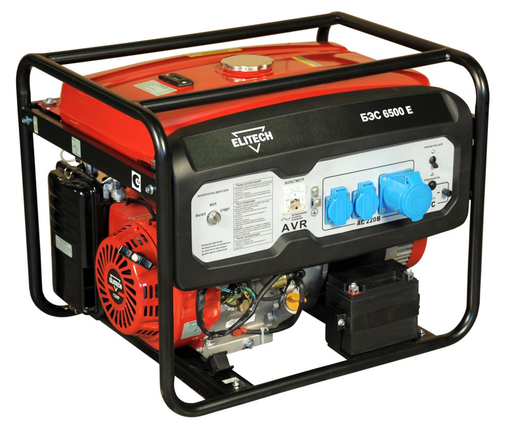 Генератор бензиновый Elitech БЭС 6500 А 5,5 кВт