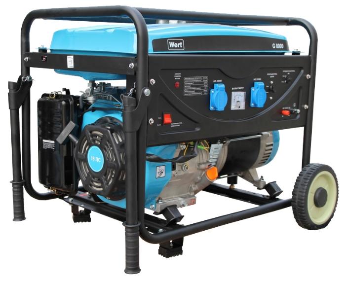 Генератор бензиновый WERT G 8000E 6,5 кВт