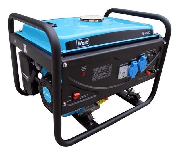 Генератор бензиновый WERT G 3000С 2,5 кВт