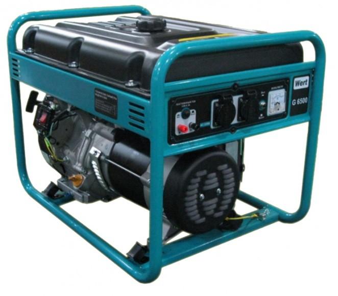 Генератор бензиновый WERT G6500 5,5 кВт